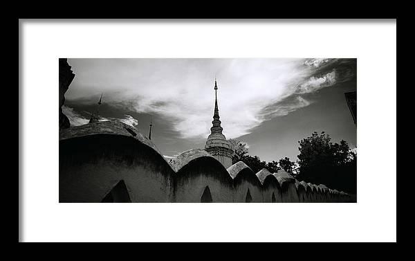 Wat Framed Print featuring the photograph Wat Suan Dok by Shaun Higson