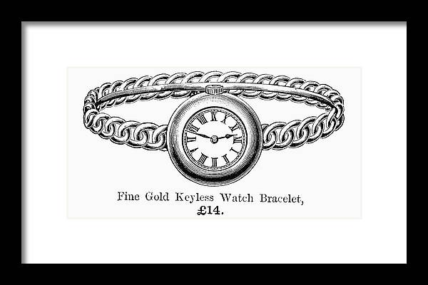1891 Framed Print featuring the painting Watch Bracelet, 1891 by Granger