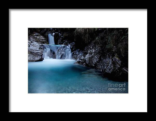Background Framed Print featuring the photograph Waterfall by Ulisse