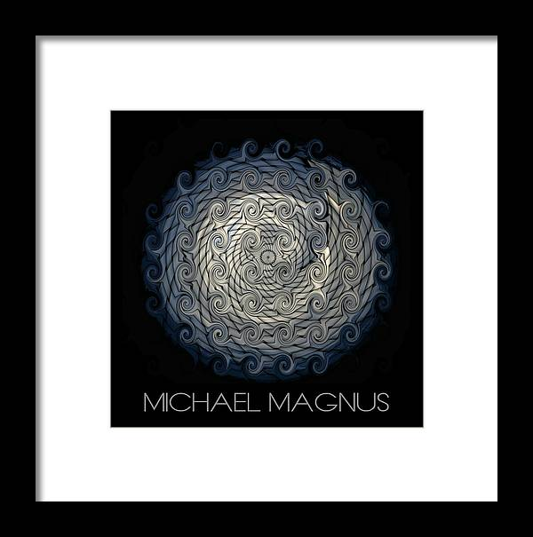 Mandala Framed Print featuring the mixed media Wind by Michael Magnus
