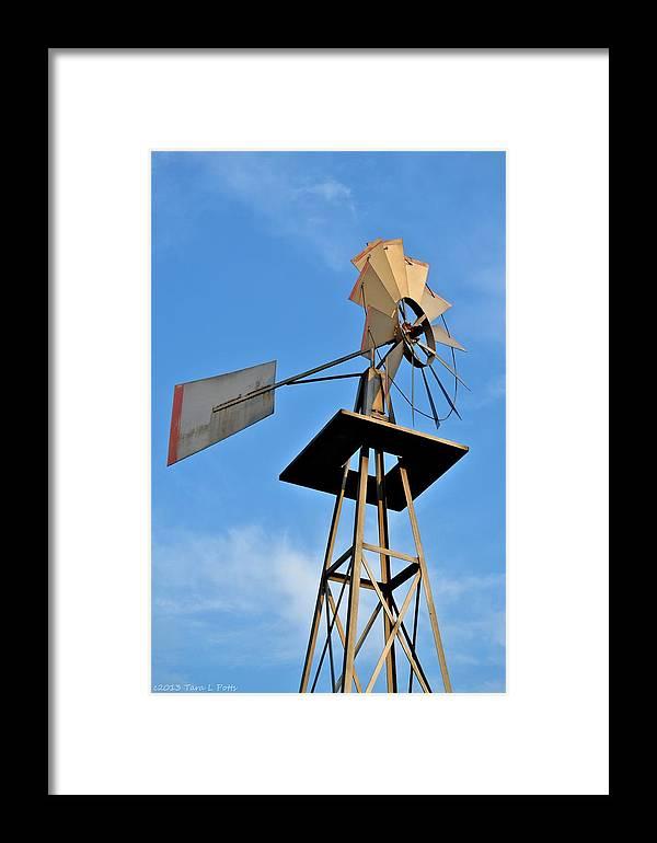 Windmill Framed Print featuring the photograph Windmill by Tara Potts
