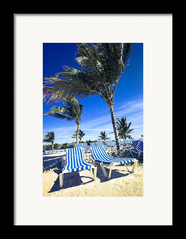 Ocean Framed Print featuring the digital art Windy Day At The Beach by Susan Stone