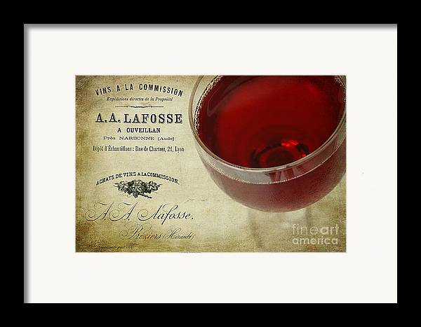 Aged Framed Print featuring the photograph Wine by Darren Fisher