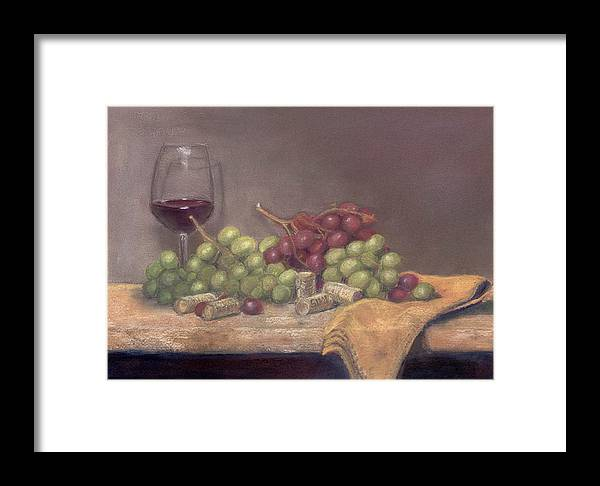 Wine Framed Print featuring the painting Wine Tasting by Ellen Minter