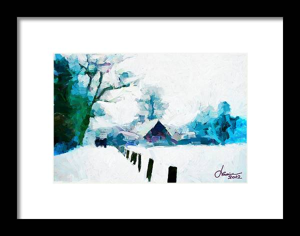 Digital Trees Framed Print featuring the digital art Winter Tales Tnm by Vincent DiNovici