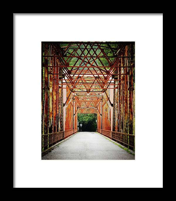 Architecture Framed Print featuring the photograph Wohler Bridge Over The Russian River by Ron Koeberer