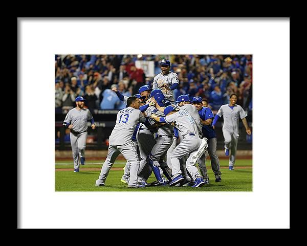 American League Baseball Framed Print featuring the photograph World Series - Kansas City Royals V New by Elsa