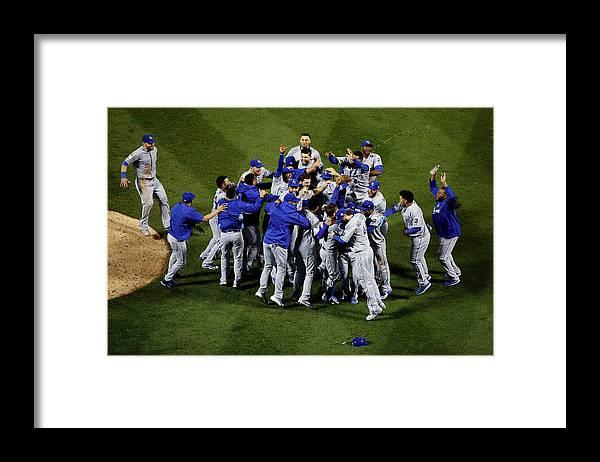 American League Baseball Framed Print featuring the photograph World Series - Kansas City Royals V New by Tim Bradbury