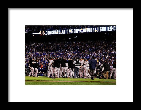American League Baseball Framed Print featuring the photograph World Series - San Francisco Giants V 1 by Ezra Shaw