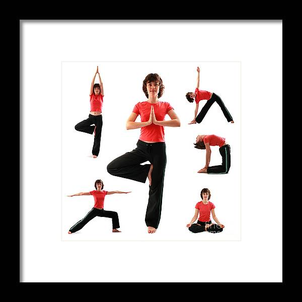 Yoga Framed Print featuring the photograph Yoga Poses by Konstantin Sutyagin