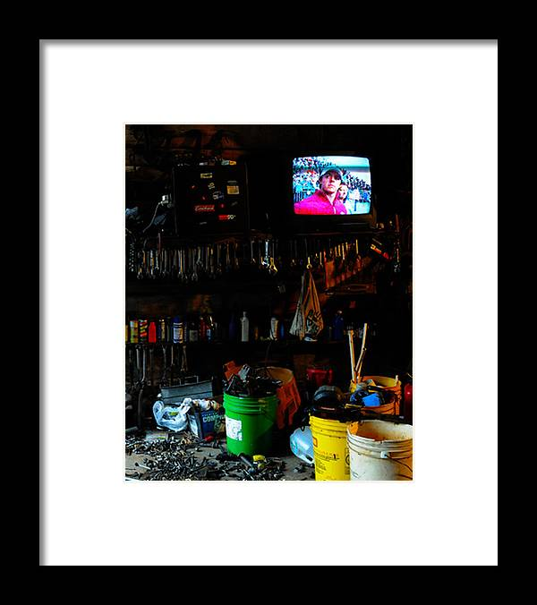 Mechanic Framed Print featuring the photograph You talkin' to me by Leon Hollins III