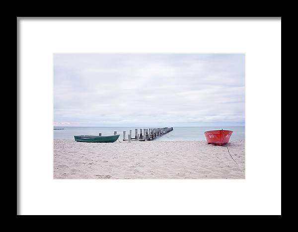 Ostsee Framed Print featuring the pyrography Zingst by Steffen Gierok