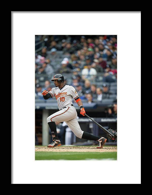 East Framed Print featuring the photograph Baltimore Orioles V. New York Yankees 10 by Rob Tringali