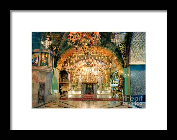 Architecture Framed Print featuring the photograph Church Of The Holy Sepulchre In Jerusalem by Sarka Olehlova