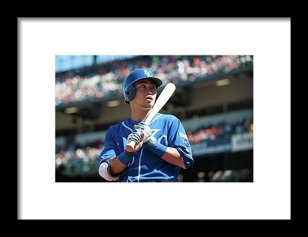 American League Baseball Framed Print featuring the photograph Kansas City Royals V Baltimore Orioles by Rob Tringali