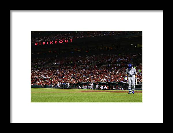 American League Baseball Framed Print featuring the photograph Kansas City Royals V St. Louis Cardinals by Dilip Vishwanat