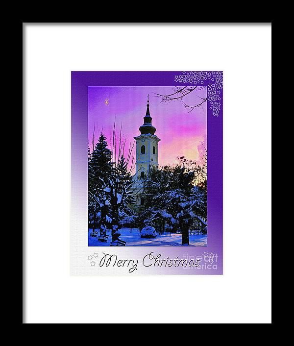 Christmas Framed Print featuring the photograph Christmas Card 23 by Nina Ficur Feenan