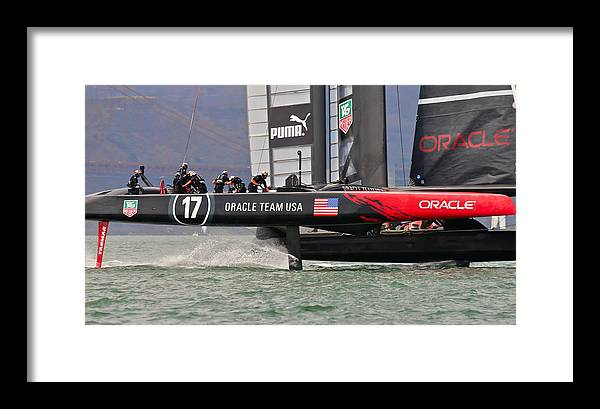 H2omark Framed Print featuring the photograph Oracle America's Cup by Steven Lapkin