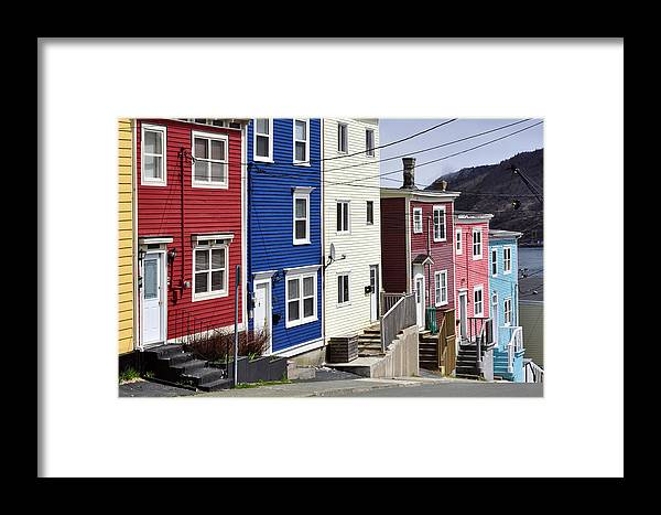 Color Framed Print featuring the photograph Saint John's. Newfoundland. by Fernando Barozza