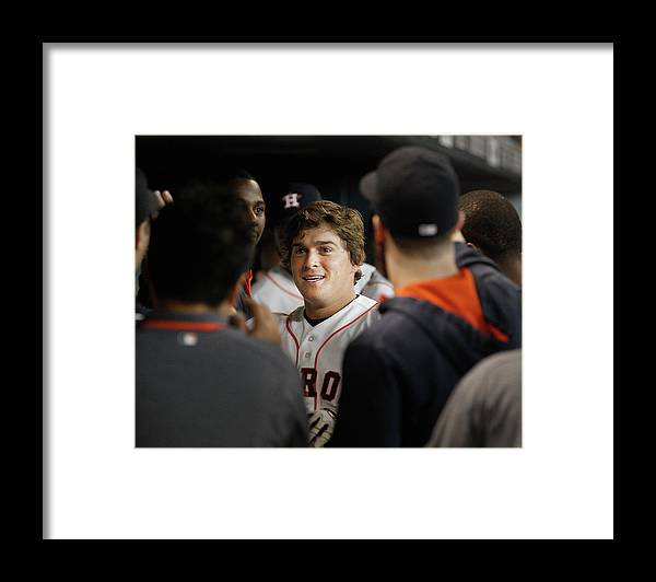 American League Baseball Framed Print featuring the photograph Seattle Mariners V Houston Astros by Bob Levey