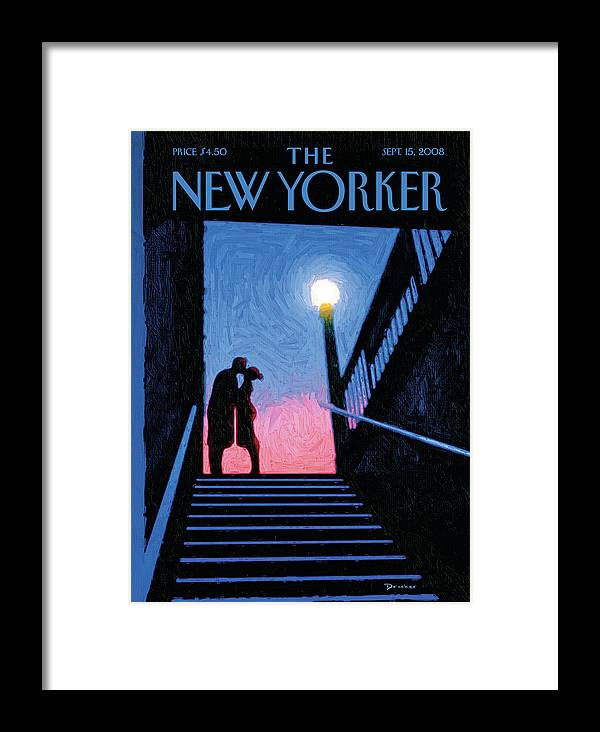 New Yorker Moment Framed Print featuring the painting New Yorker Moment by Eric Drooker