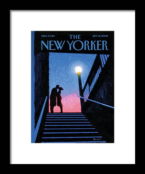 New York Moment Framed Print featuring the painting New York Moment by Eric Drooker