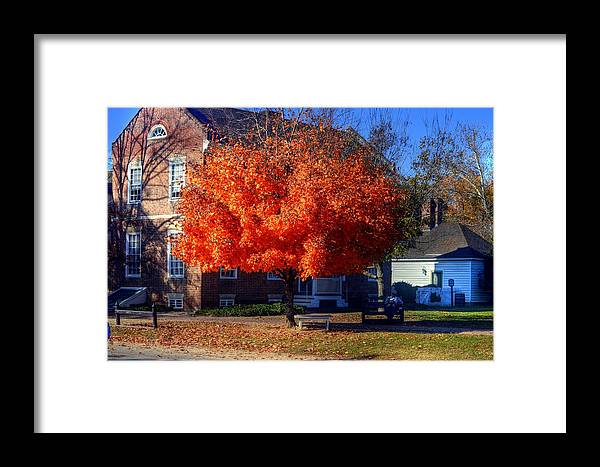 Williamsburg Virginia Usa Framed Print featuring the photograph Williamsburg Virginia Usa by Paul James Bannerman