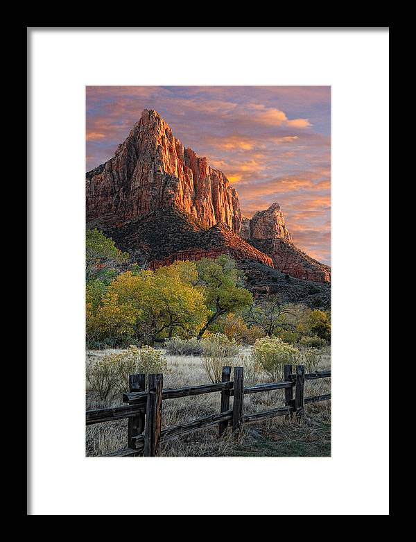 Zion National Park Framed Print featuring the photograph Zion National Park by Utah Images