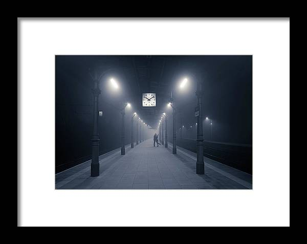 Train Station Framed Print featuring the photograph 10:09 Pm by Adam Brzuszek