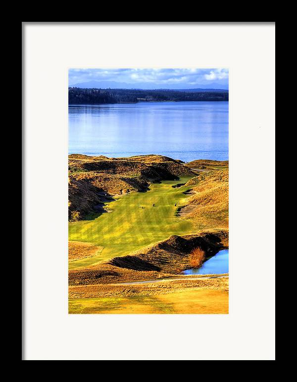 Chambers Bay Golf Course Framed Print featuring the photograph 10th Hole At Chambers Bay by David Patterson
