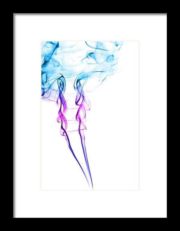 Smoke Framed Print featuring the photograph Colourful Smoke by Samuel Whitton
