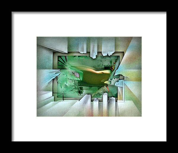 #11 Framed Print featuring the mixed media #11 Elusivenudescape 2003 by Glenn Bautista