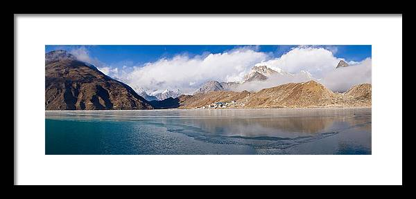 Photography Framed Print featuring the photograph Lake With Mountains In The Background by Panoramic Images