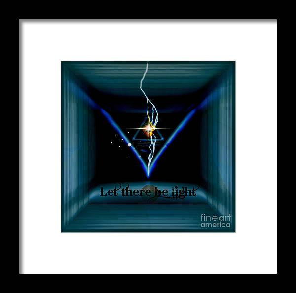 Space Framed Print featuring the digital art Mystic by Meiers Daniel