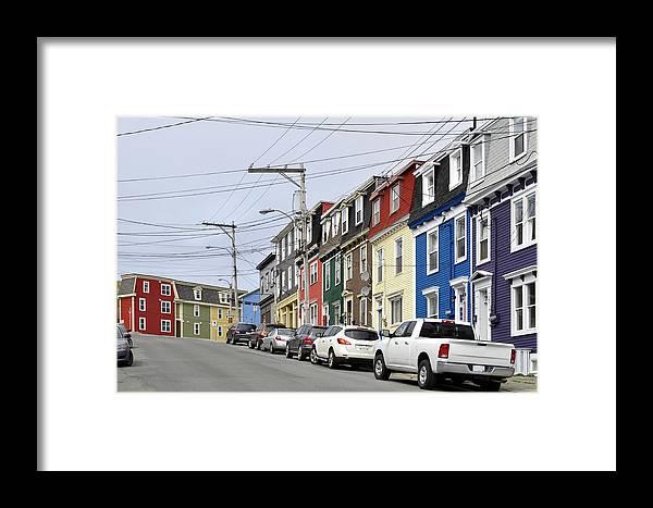 Color Framed Print featuring the photograph Saint John's. Newfoundland. by Fernando Barozza