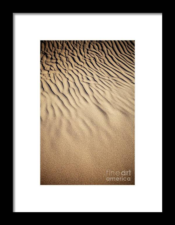 Sand Framed Print featuring the photograph Sand Dunes by Kati Finell
