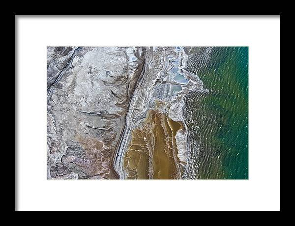 Earth Framed Print featuring the photograph The Dead Sea by Ofir Ben Tov
