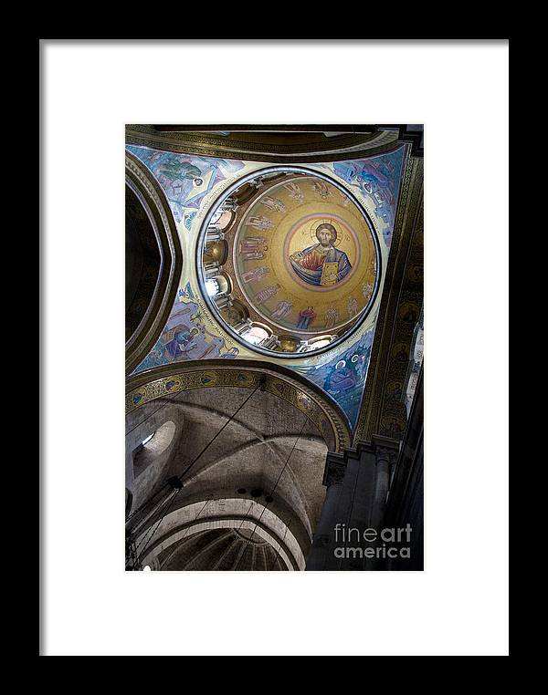 Holy Sepulchre Framed Print featuring the photograph Church Of The Holy Sepulchre In Jerusalem by Sarka Olehlova