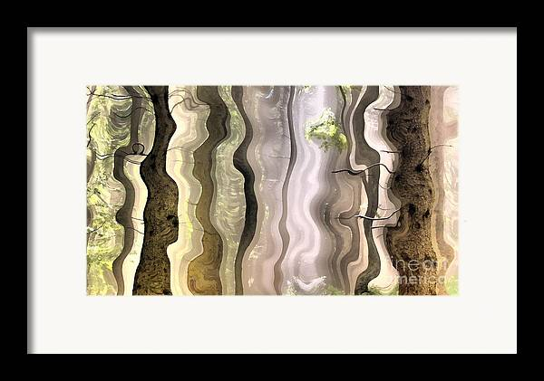 Abstract Framed Print featuring the painting Dream Forest by Odon Czintos