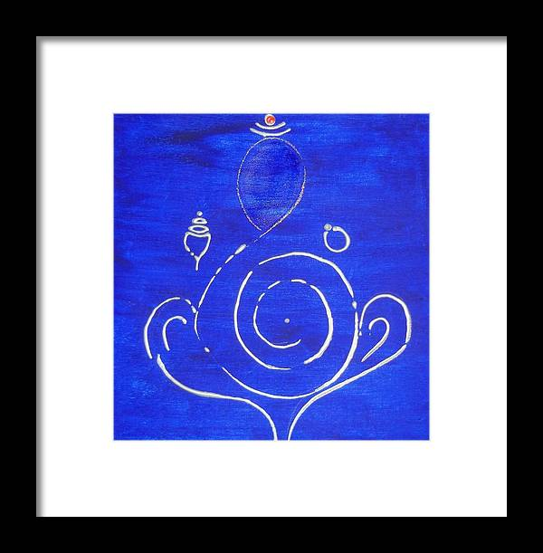 Ganesha Framed Print featuring the painting 16 Ganesh by Kruti Shah