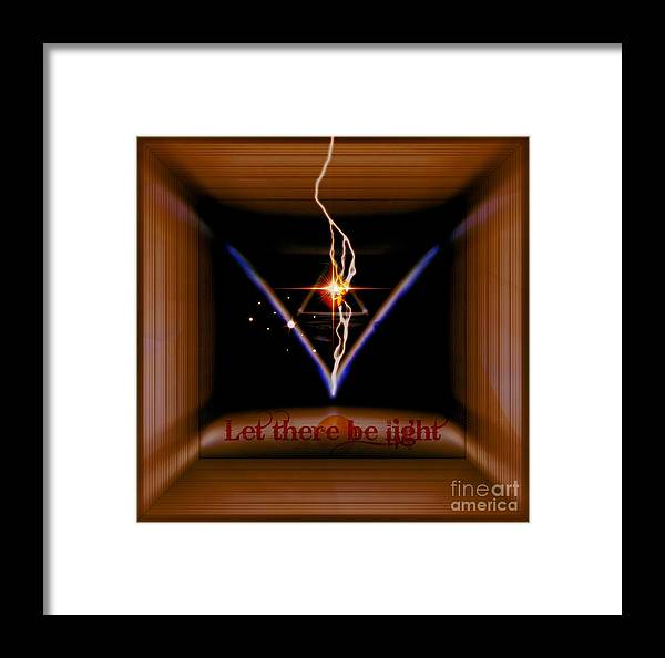Space Framed Print featuring the digital art Mystic by Meiers Daniel
