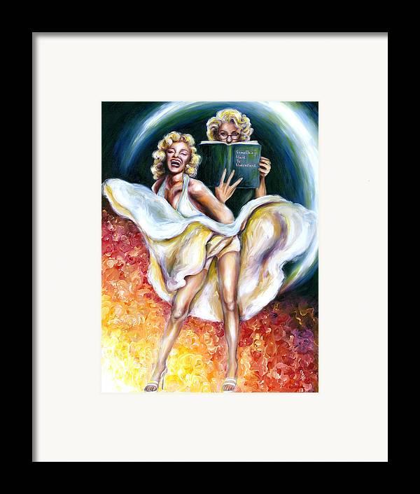 Marilyn Monroe Parody Framed Print featuring the painting 12 Signs Series Gemini by Hiroko Sakai