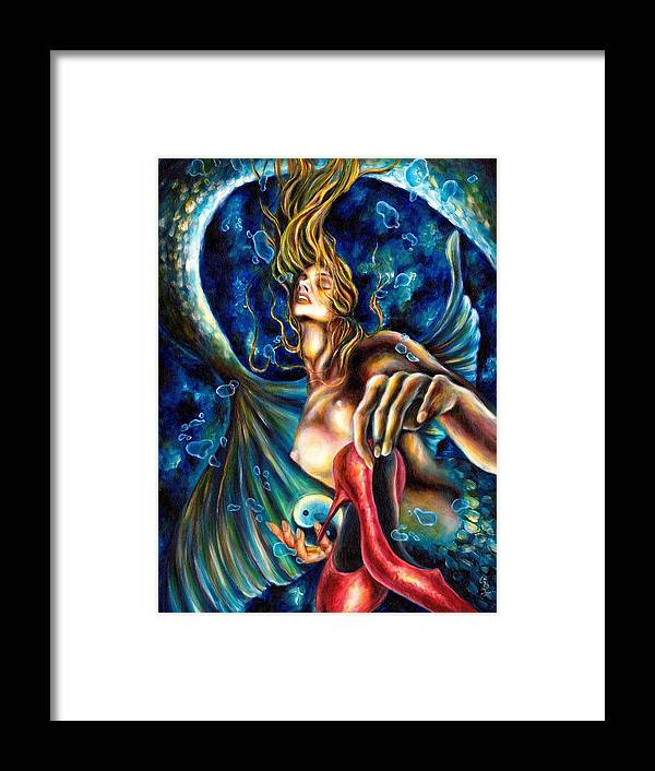 Unique Zodiac Art Framed Print featuring the painting 12 Signs Series Pisces by Hiroko Sakai