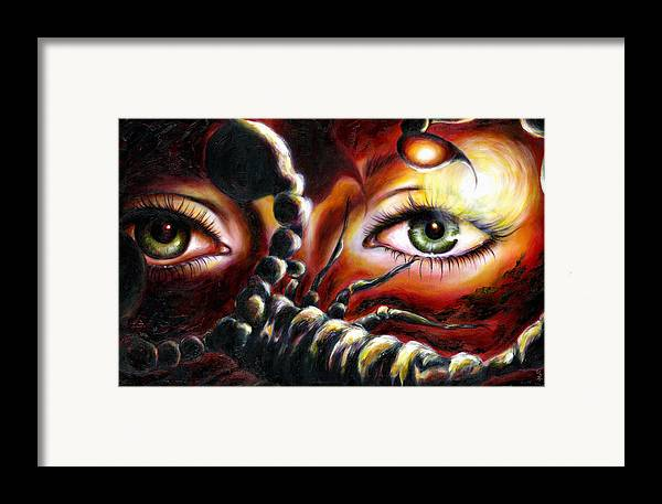 Horoscope Sign Framed Print featuring the painting 12 Signs Series Scorpio by Hiroko Sakai