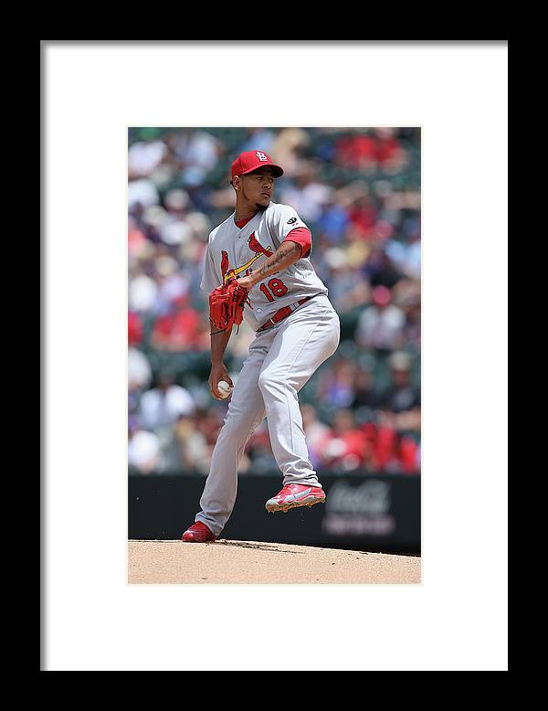 St. Louis Cardinals Framed Print featuring the photograph St Louis Cardinals V Colorado Rockies by Doug Pensinger