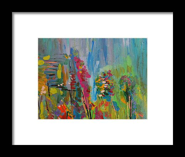 Landscape Framed Print featuring the painting Untitled by Stephen Rosati