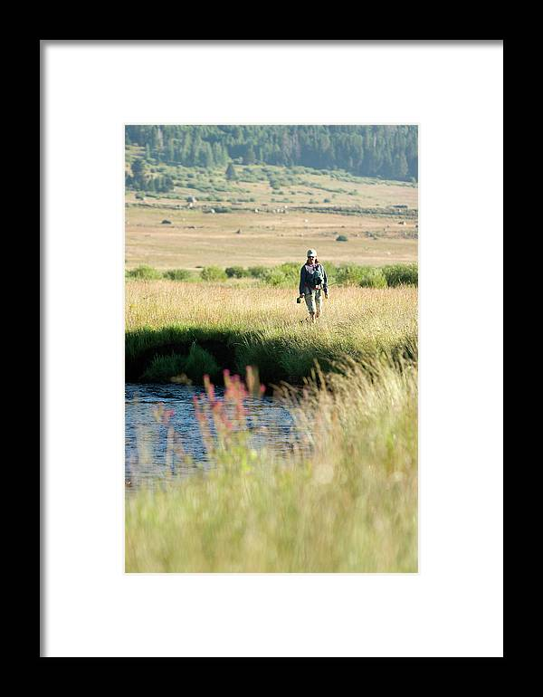 25-35 Years Framed Print featuring the photograph Young Woman Fly Fishing The West Fork by Justin Bailie