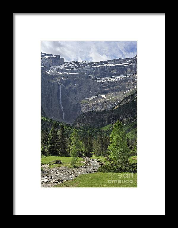 Cirque De Gavarnie Framed Print featuring the photograph 120520p190 by Arterra Picture Library