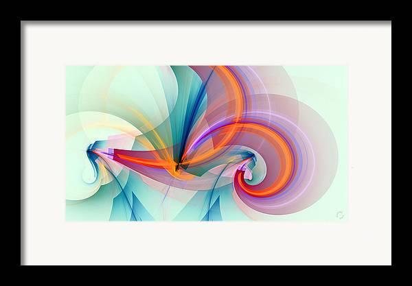 Abstract Art Framed Print featuring the digital art 1260 by Lar Matre