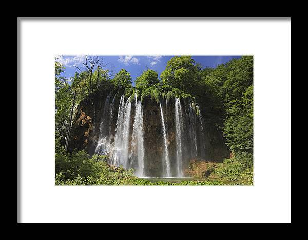 Balkan Peninsula Framed Print featuring the photograph Plitvice Lakes National Park Croatia by Ivan Pendjakov